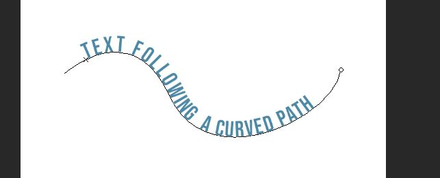 text following a curved path photoshop