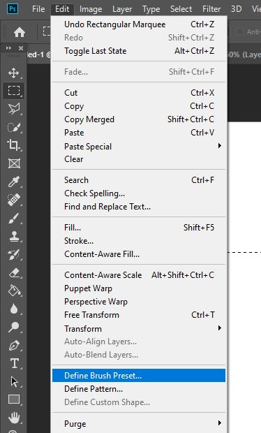 define brush preset photoshop