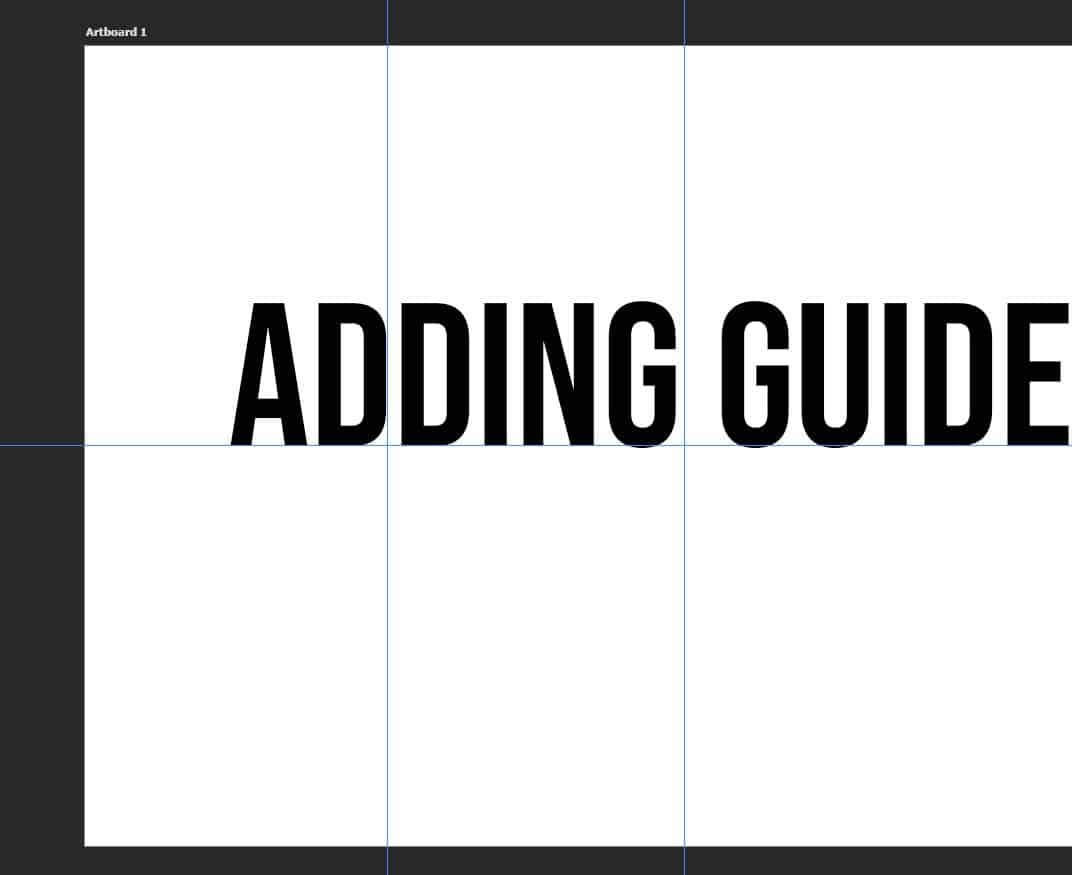 adding guides in photoshop